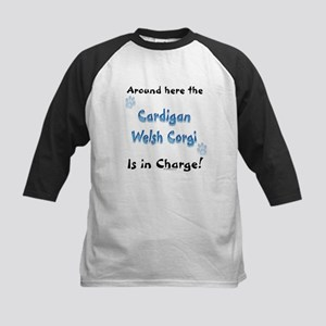 Welsh Corgi Charge Kids Baseball Jersey