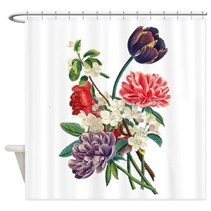 Red Peony Shower Curtains
