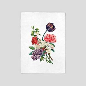Jean Louis Prevost Tulips & Peonies 5'x7'Area Rug