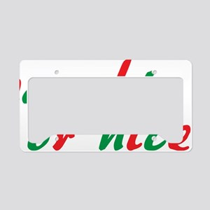 naughty or nice1 License Plate Holder