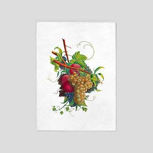 Jean Louis Prevost Grapes and Peach 5'x7'Area Rug