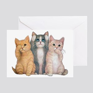 hearseesaypuzzle Greeting Card