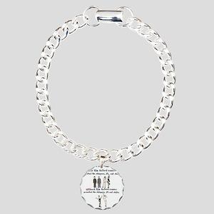 oxford comma Charm Bracelet, One Charm