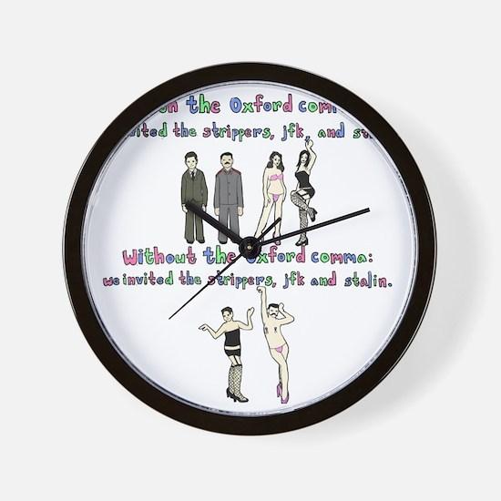 oxford comma Wall Clock