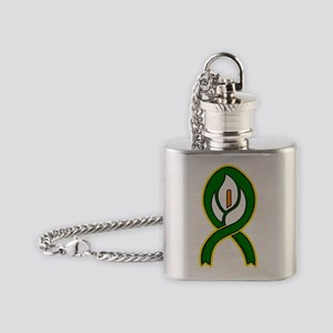 Easter Lily 1 (Rect Sticker) Flask Necklace