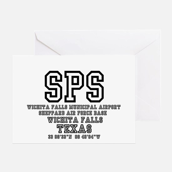 AIRPORT CODES - SPS - SHEPPARD AFB,W Greeting Card