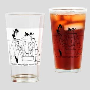 5406_lab_cartoon Drinking Glass