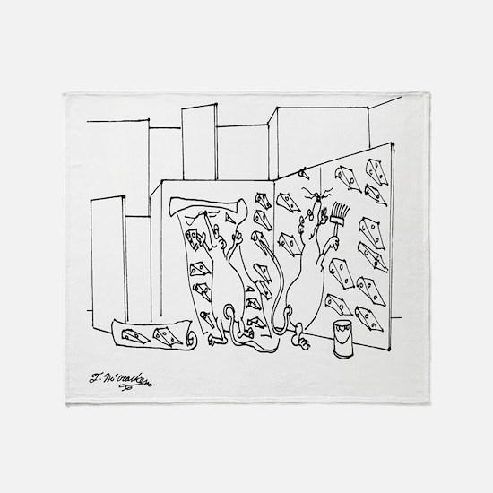6097_lab_cartoon Throw Blanket