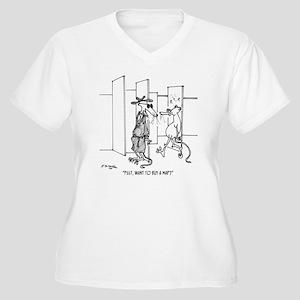 4648_lab_cartoon Women's Plus Size V-Neck T-Shirt