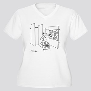 4647_lab_cartoon Women's Plus Size V-Neck T-Shirt