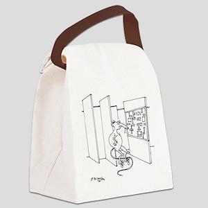 4647_lab_cartoon Canvas Lunch Bag