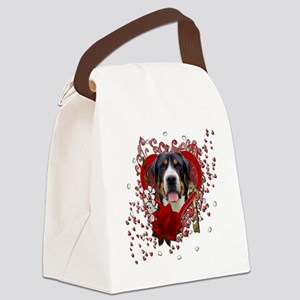 Valentine_Red_Rose_GreaterSwissMo Canvas Lunch Bag