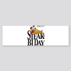 Steak & BJ Day Bumper Sticker