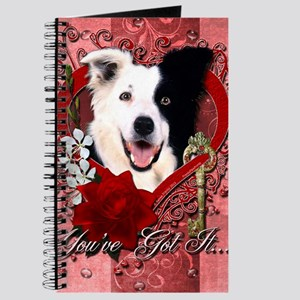 Valentine_Red_Rose_BorderCollie Journal