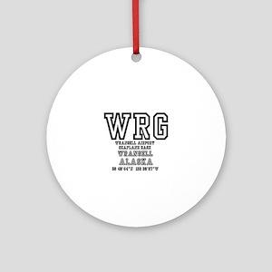 AIRPORT CODES - WRG - WRANGELL, ALA Round Ornament