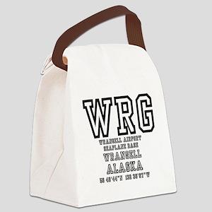 AIRPORT CODES - WRG - WRANGELL, A Canvas Lunch Bag