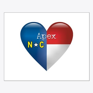Love Apex North Carolina Small Poster