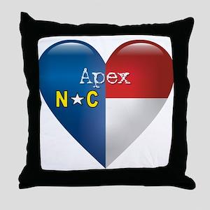Love Apex North Carolina Throw Pillow