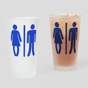 Bow Legged Woman Drinking Glass