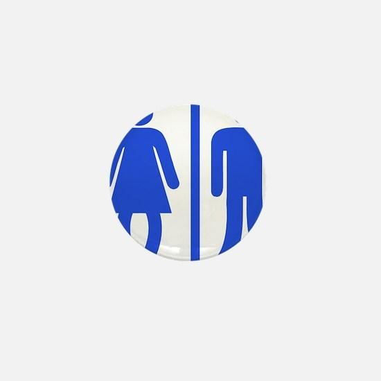 Bow Legged Woman Mini Button