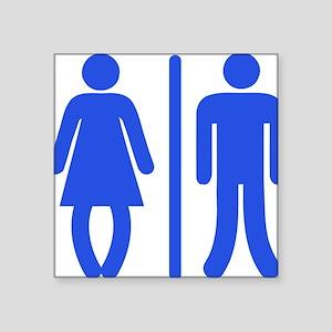 "Bow Legged Woman Square Sticker 3"" x 3"""