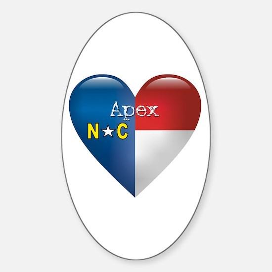 Love Apex North Carolina Oval Decal