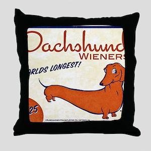 dachshund wieners Throw Pillow