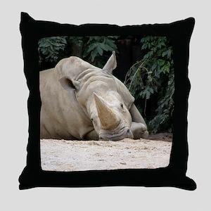 Bored Hippo Throw Pillow