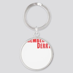 Remember Derry Neutral Round Keychain