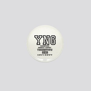 AIRPORT CODES - YNG - YOUNGSTOWN, OHIO Mini Button
