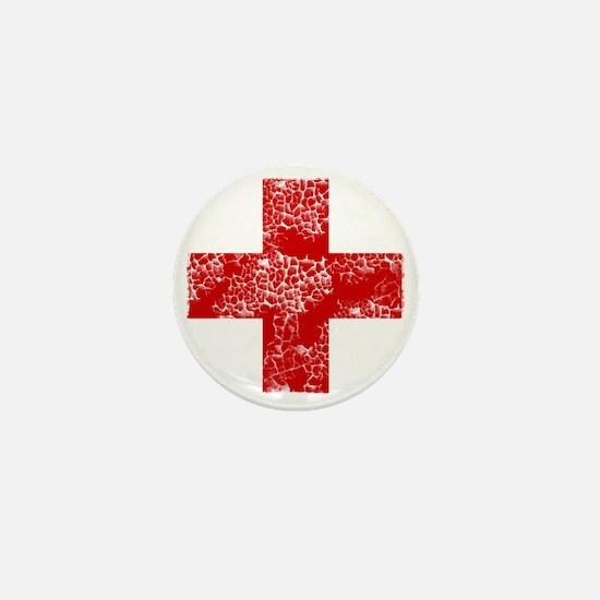 red cross Mini Button