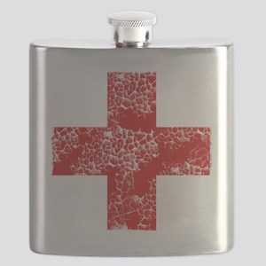 red cross Flask