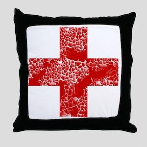 red cross Throw Pillow