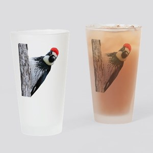 Acorn Woodpecker Bird T-Shirt Drinking Glass