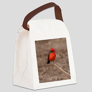 Vermilion Flycatcher Bird T-Shirt Canvas Lunch Bag