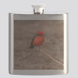 Vermilion Flycatcher Bird T-Shirt Flask