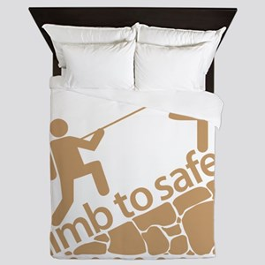 Don't Panic, Climb to Safety Queen Duvet