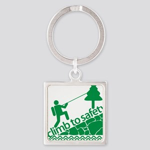Don't Panic, Climb to Safety Square Keychain