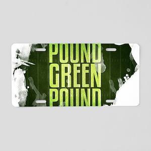 POUNDGREEN_cp Aluminum License Plate