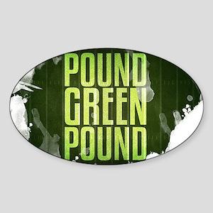 POUNDGREEN_cp Sticker (Oval)