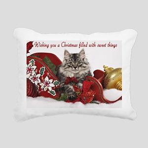 Kiddo Christmas Card 2Fr Rectangular Canvas Pillow