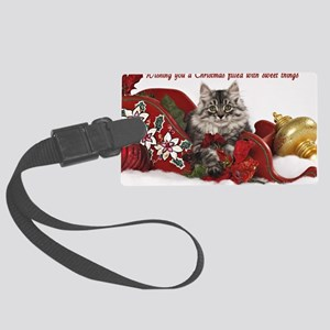 Kiddo Christmas Card 2Front Large Luggage Tag