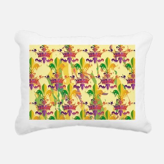 MardiGrasLoveCrPmBeBag Rectangular Canvas Pillow