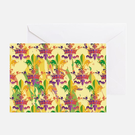 MardiGrasLoveCrPmBeBag Greeting Card