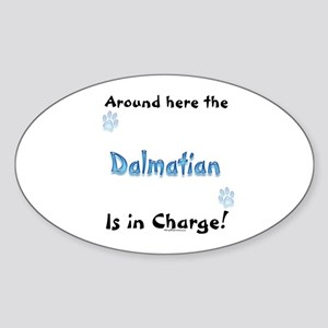 Dalmatian Charge Oval Sticker