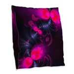 Flower Fairy Abstract Rose Burlap Throw Pillow