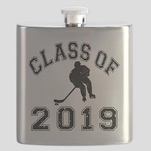 Class Of 2019 Hockey - Black 2 D Flask