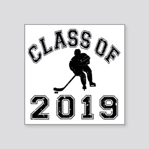 "Class Of 2019 Hockey - Blac Square Sticker 3"" x 3"""