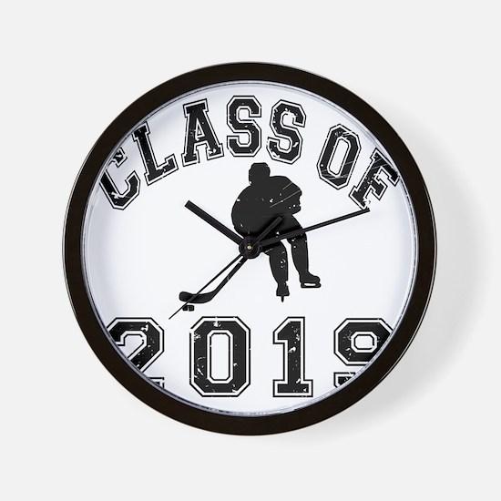 Class Of 2019 Hockey - Black 2 D Wall Clock