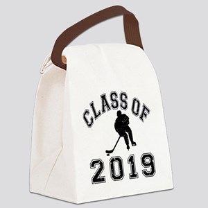 Class Of 2019 Hockey - Black 2 D Canvas Lunch Bag